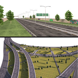 highway collections way 3D model