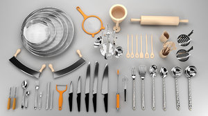 kitchen tools kit 3D