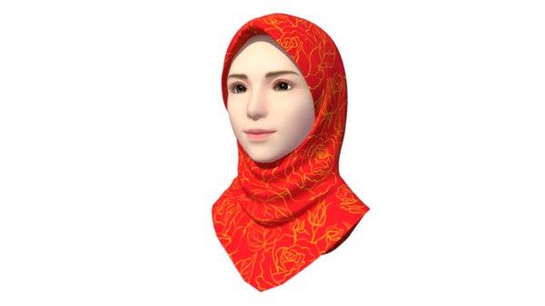 3D hijab girl model