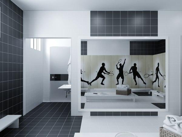 hallway corridor room 3D model