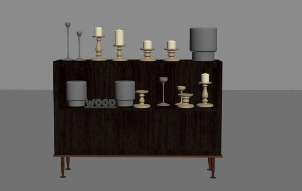 cupboard antique vase model