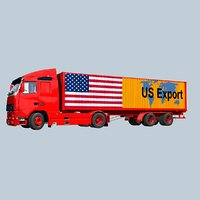 USA export container truck