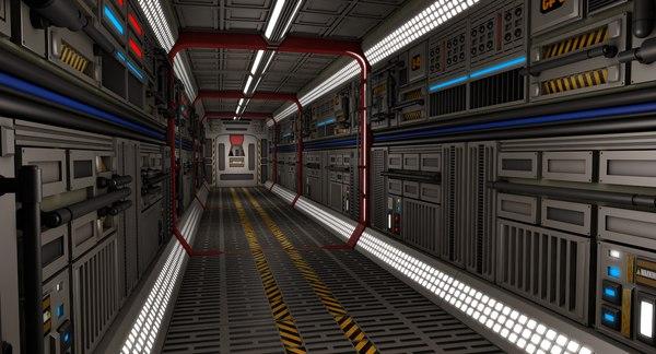 sci fi interior 3D