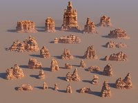 mountains monument pack 30 3D model