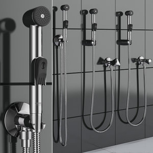 3D hygienic shower grohe trigger model