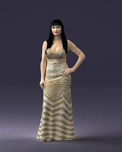 interiors golden dress 3D model