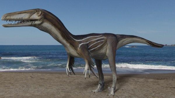 3D austroraptor animals dino
