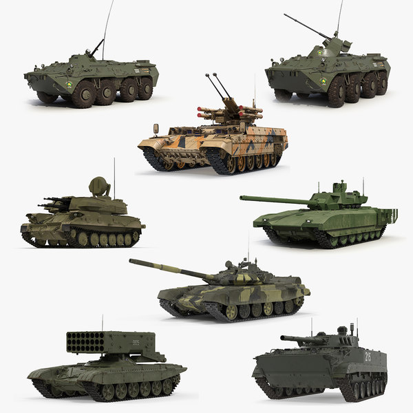 russian tanks rigged 2 3D model