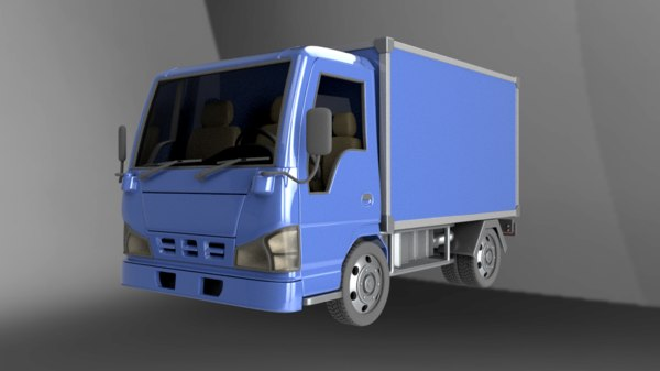 small delivery truck 3D