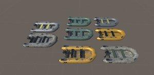 realistic boat motor 3D
