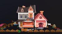 house cartoon - asset 3D model