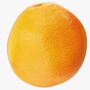 3D grapefruit 01 hi polys