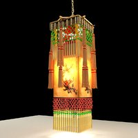 chinese palace lantern royal 3D