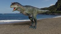 3D carnotaurus dino