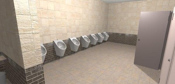 3D restroom - interior model