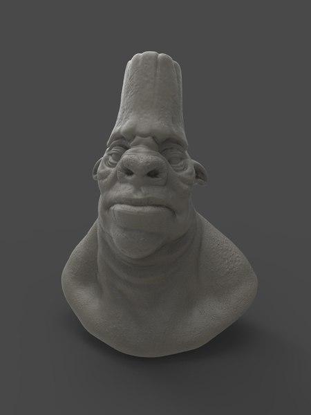 war pig character creature 3D model