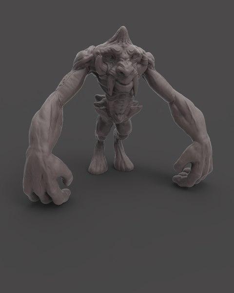 ape-like creature 3D