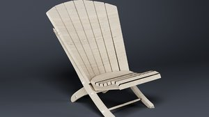 simple adirondack chair 3D