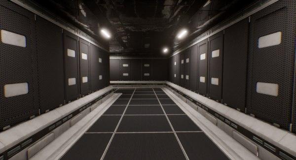 sci-fi modular corridor model