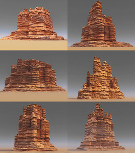 mountains monument pack 6 3D model