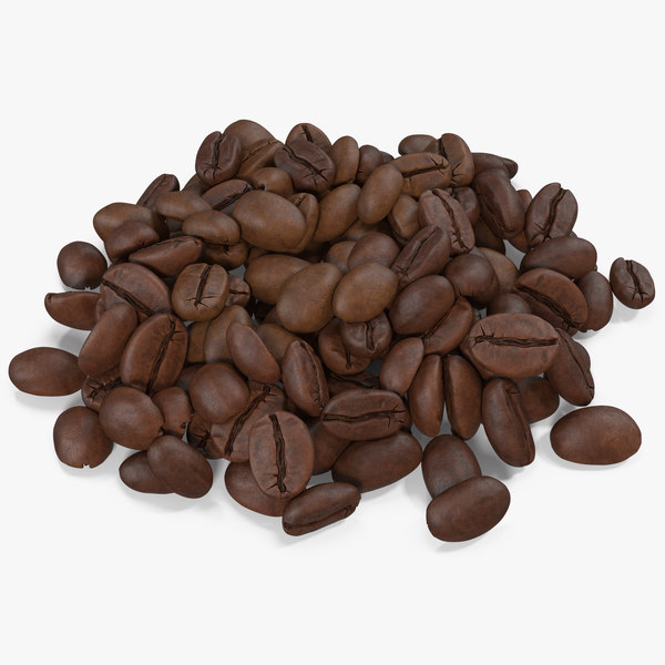 3D model coffee beans roasted 4