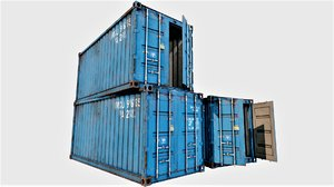 enterable shipping container 03 3D model