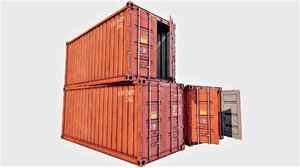 3D model enterable shipping container 01