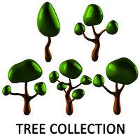 3D tree polys model