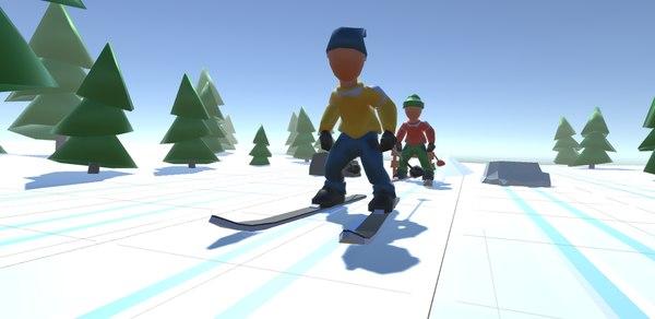3D model ski - props winter