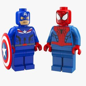 super heroes lego 3D