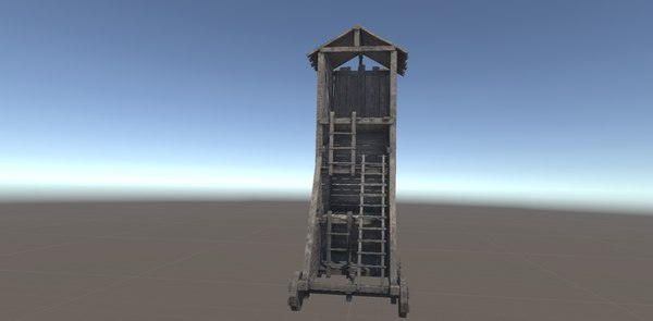 3D model siege tower