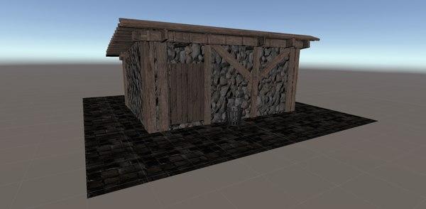 3D vr building props model