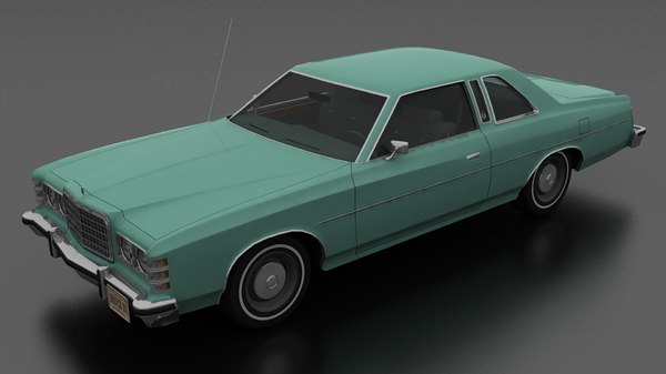3D 2dr pillared hardtop model