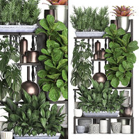 vertical exotic plants 3D model