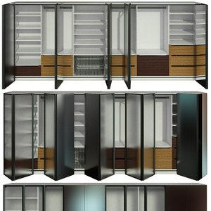wardrobe folding doors 3D