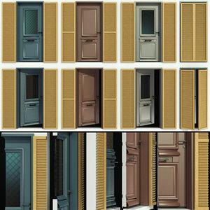 doors shutter 3D model