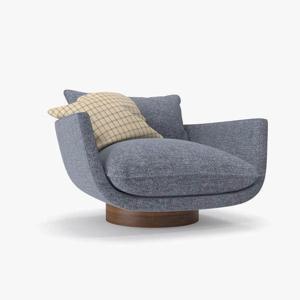 blue armchair model