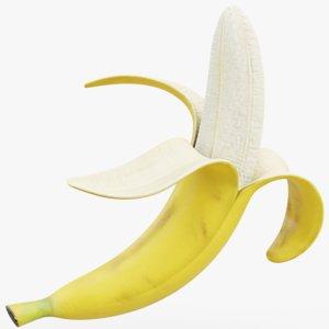 banana peel 3D model