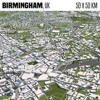 Birmingham 50x50km