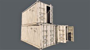enterable shipping container 02 model