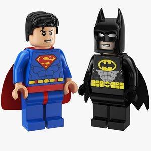 3D super heroes lego model
