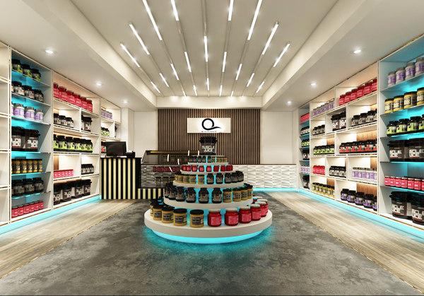 supplements store scene 3D model