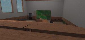 university classroom - model