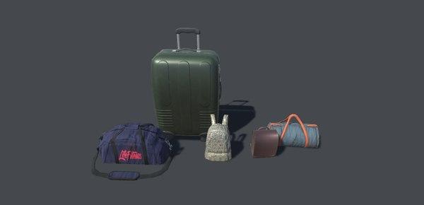 sport bags backpack - 3D model
