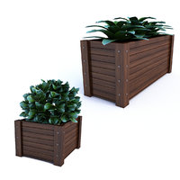 outdoor flower pot 3D