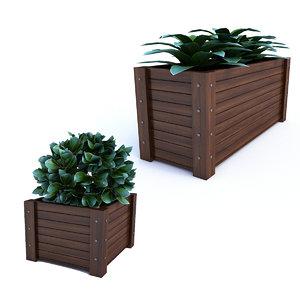 outdoor flower pot 3D