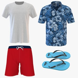 men beach clothing 2 model
