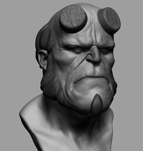 hellboy 3dprint zbrush 3D