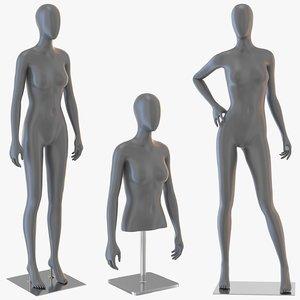 3D female mannequins