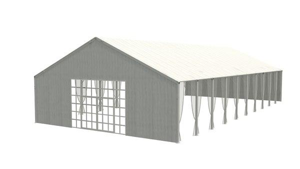 3D tent meeting exterior model